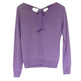 Ralph Lauren Silk Purple Jumper
