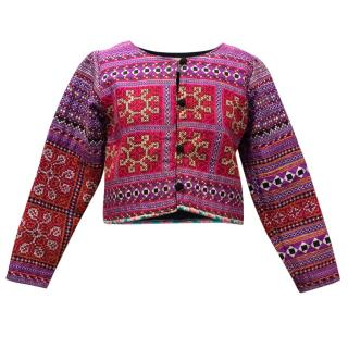 Mochi Multi-coloured Embroidered Pattern Jacket