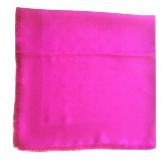 Louis Vuitton Fuschia Silk Shawl Scarf