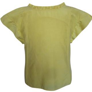 Christian Dior Girls Yellow Silk Blouse
