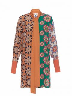 Jonathan Saunders Cara Star-print Crepe Dress