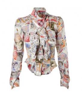 Vivienne Westwood Gold Label Money Print Silk Blouse