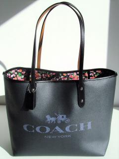 Coach Denim Horse Carriage City Tote