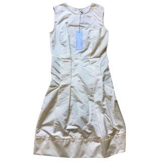 Marni ecru silk dress