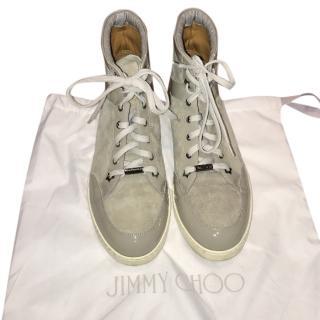 Jimmy Choo Tokyo Grey High Top Sneakers