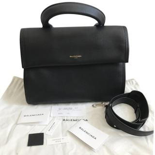 Balenciaga tool medium leather satchel bag