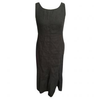 Weekend by MaxMara black linen dress