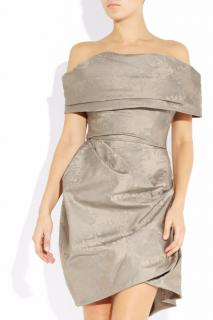 Vivienne Westwood corseted brocade-taffeta dress