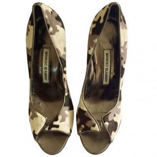 Manolo Blahnik Camouflage Heels