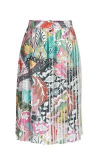Jonathan Saunders Harleth Printed Poly Satin Skirt