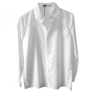 J.W.Anderson Tailored Classic White Cotton Shirt with Embroidered Logo