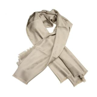 Louis Vuitton Beige Silk Shawl Scarf
