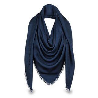 Louis Vuitton Night Blue Silk Shawl Scarf