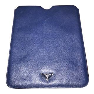 Prada Blue Leather iPad Case