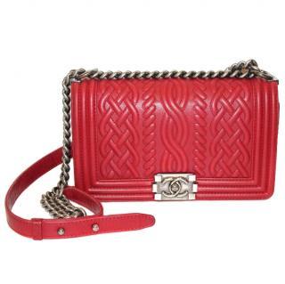 Chanel Edinburgh Red Boy Celtic Flap Bag