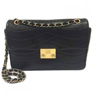 Chanel Pagoda Black Lambskin Flap Bag 2016