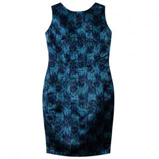 Shanghai Tang Teal Silk Dress XS