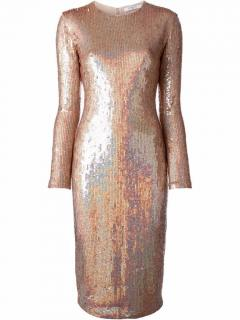 Givenchy Pearlescent Sequin Midi Dress