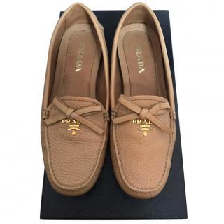 Prada Beige Driver Shoes