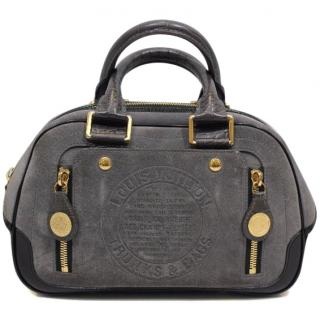 Louis Vuitton Limited Edition Grey Suede Havane Stamped Trunk GM Bag