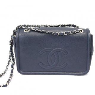Chanel Navy Caviar Timeless CC Medium Flap