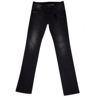 Karl Lagerfeld Black Cat Motif Jeans