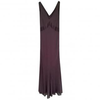 Amanda Wakeley Brown Evening Dress