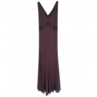 Amanda Wakeley Brown Evening Dress