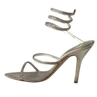 Rene Caovilla Strappy Crystal Sandals