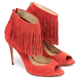 Paul Andrew Burnt Red Tassel Heels