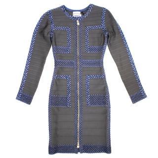 Herve Leger Keslyn Grey Bodycon Dress