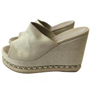 Chanel Light Grey Sandals