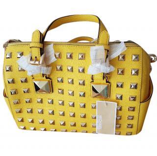 Michael Kors Yellow Leather Studded Bag