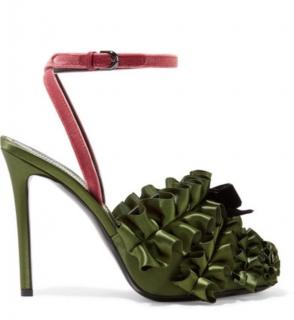 Marco de Vincenzo Ruffle Satin Sandals