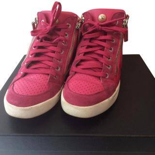 Chanel CC High Top Sneakers