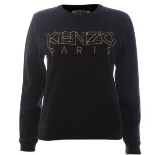 Kenzo Embroidered Logo Cotton Sweatshirt