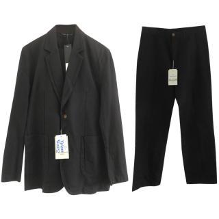 Vivienne Westwood Mens Black Linen Suit, Perfect Party Suit, BNWT