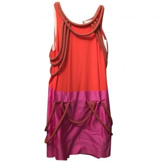 Sass and Bide Coral and Pink Dress