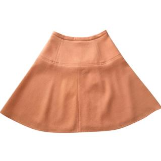 Carven Virgin Wool Orange Skirt