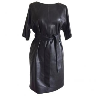 Escada Sport Black Leather Dress