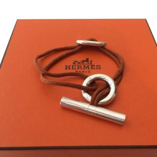 Hermes Chaine D'Ancre Cord Toggle Bracelet