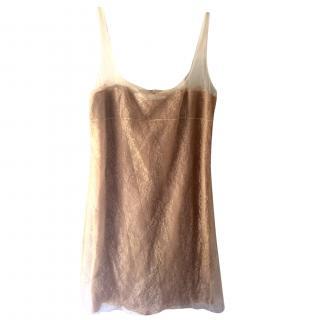 Valentino silk and lace dress