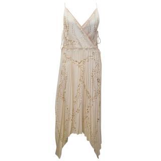 Emilio Pucci Lasercut Silk and Chiffon Dress
