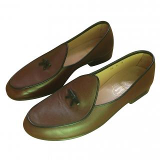 Belgian Shoes Brown Leather Loafers