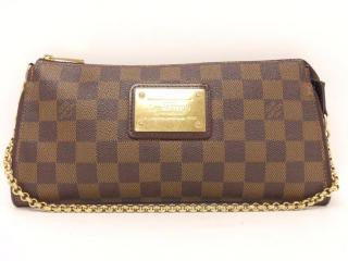 Louis Vuitton Eva Damier Ebene Hand Clutch Pouch Bag 10444