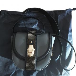 Cavalli Class Grey Stud Crossbody Bag