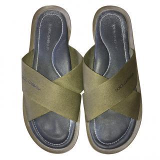 Dolce and Gabbana Green Sandals