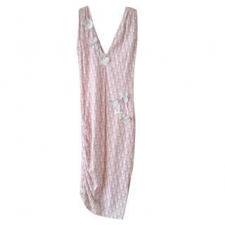 Christian Dior Pink White Monogram Dress