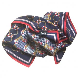 D&G Patterned Silk Scarf