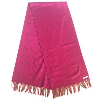 Burberry Wool and Cashmere Fuchsia Scarf